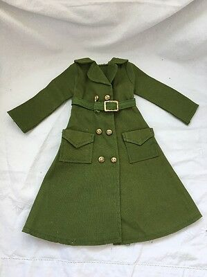 CRISSY Tagged Green Coat DRENCHED TRENCH