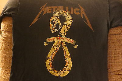 Vintage/Original Metallica Black Album Don't Tread on Me 1991 Tour T-Shirt Large