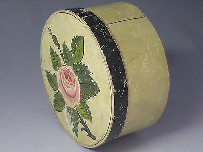 """AAFA Antique 19th c. M. DUNSTER, """"Top-of-Stack"""", Painted Round Pantry Box, N.R."""