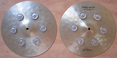 """Zildjian 13"""" Re-Mix Jungle Hats - Rare And Discontinued - Used By Mike Mangini."""