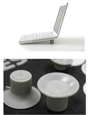 4PCS Foot Heat Reduction Pad for Laptop Notebook Cooling Feet Leg Cooler Stand