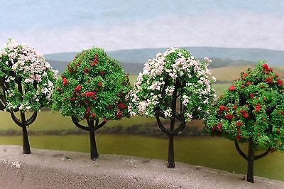 Trees In Blossom For Model Railway/wargames (Pack Of 10)