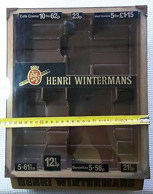 Henri Wintermans Glass Fronted Wooden Cigar Display Case. With liner.