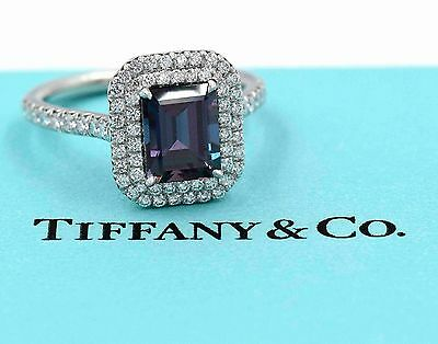 Tiffany & Co. Alexandrite and Diamond Ring in Platinum - High Jewelry