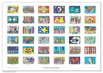 "XXL James Rizzi orig. 3D Bild "" A PART OF MY ART ""NEU Zertifikat kleine Auflage!"