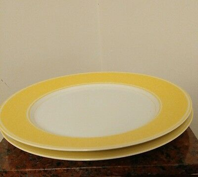 Fitz & Floyd Rondelet Yellow Dinner Plate 10 1/4 inches Vintage 1975 EUC.