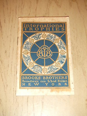 RARE 1914 PROMO Brooks Brothers International Trophies Book Clothing New York NY