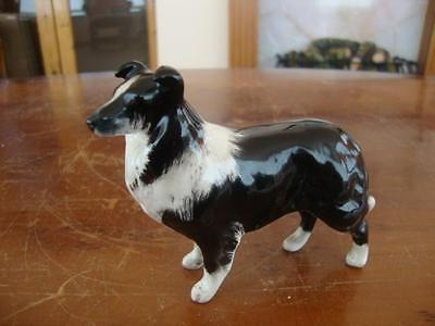 Superb Quality Vintage Beswick Border Collie Figurine. C1960.