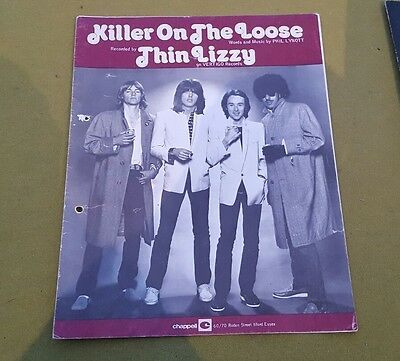 Thin lizzy killer on the loose sheet music