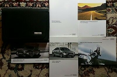 2011 Audi A4 Owners Manual Complete Set With Case