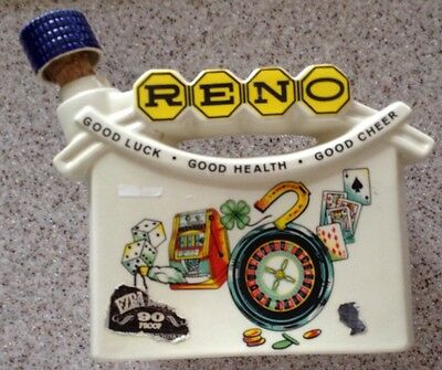 "Vintage 1968 Ezra Brooks ""Reno"" Whiskey Decanter (empty)"