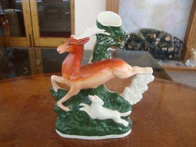 Good Antique Genuine Staffordshire Pottery Hunting Figure Group.