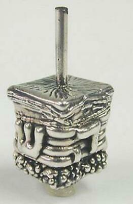 Silver Judaica House Dreidel Collectible 925 Sterling Silver Sevivon Unique Gift