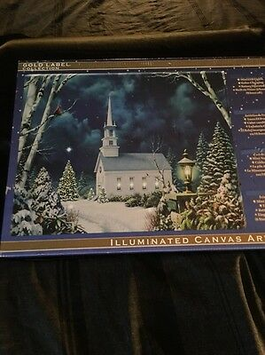 NEW Mr Christmas Gold Label Collection Illuminated Canvas Red Cardinal LED