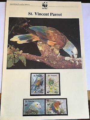 St Vincent Wwf Mnh 1989 Parrot Bird 6 Pages See Both Pix