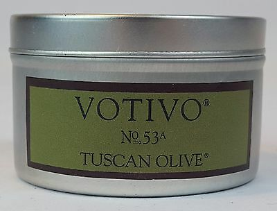 BRAND NEW VOTIVO 4OZ CANDLE TRAVEL TIN 30-40 HOURS MULTIPLE SCENTS FREE SHIPPING