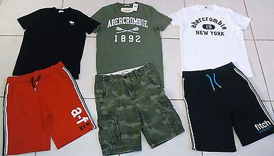 Boy's Size 14 Abercrombie Summer Lot Of Nwt And Euc Clothing!