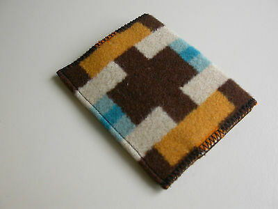 southwestern id wallet card case simple wallet handcrafted of Pendleton fabric