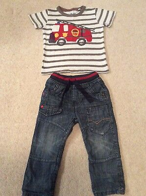 Boys Clothes Next Jeans & T Shirt age 9-12 months