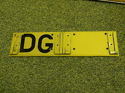 Kentish Bus Allocation Plate From Dunton Green Garage Removed at Reigate Garage