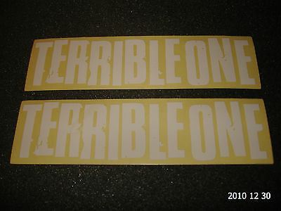 2 Authentic Terrible One Bmx Bike Frame Stickers / Decals #20 Aufkleber