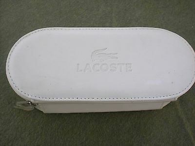 Authentic LACOSTE SUNGLASSES EYEGLASSES soft CLAMSHELL Case White
