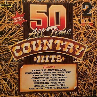 """""""50 All Time Country Hits"""" - Vinyl LP - Various Artists - Pickwick - 50 DA 300"""
