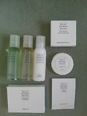 DEAD SEA MINERALS travel set: shampoo, gel, body lotion, soap, more