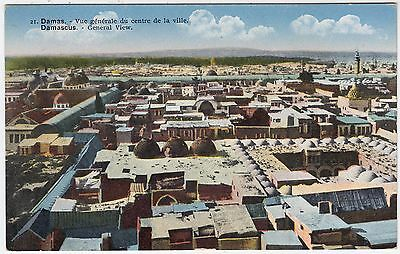 DAMASCUS / DAMAS - Syria - General View - by Moise J Zagha - c1900s postcard