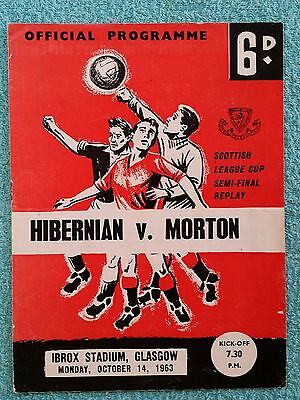 1963 - SCOTTISH LEAGUE CUP SEMI FINAL REPLAY PROGRAMME - HIBERNIAN v MORTON