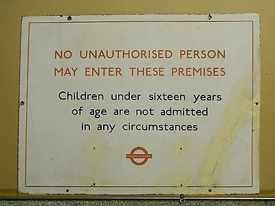 Muswell Hill Garage Sign London Transport Bus Stop No Unauthorised Persons