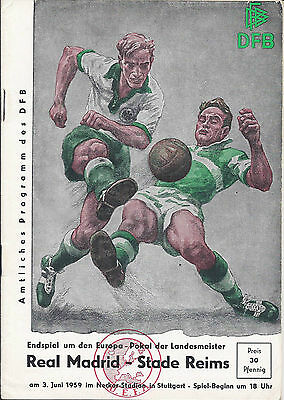 1959 European Cup Final Real Madrid v Stade Reims
