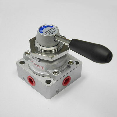 4/3 Way Pneumatic Hand Switching Valve 1/4 inch NPT with Ceramic Seal 4HV230C-08