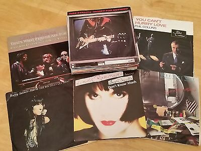 """JOB LOT OF 7"""" SINGLES OF 1980s (50) MANY POPULAR ARTISTS FROM THE ERA INCLUDED"""