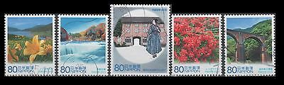 3564a-e 60th anniv. of Autonomy Law, Gunma(5 USED Stamps)(Issued 2013)