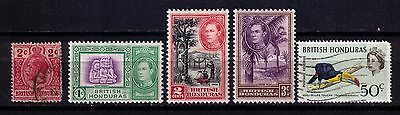 British Honduras Stamps First Years small lot Mint/Used