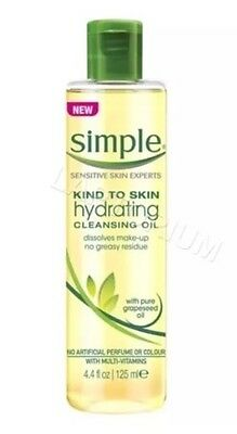 Simple Kind To Skin Hydrating Cleansing Oil Natural Make-Up Remover 125 ml *UK*