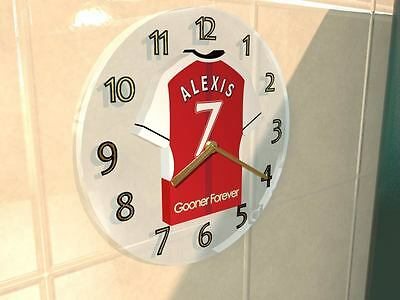 Arsenal FC Football Club Clock - Football shirt - FREE PERSONALISATION