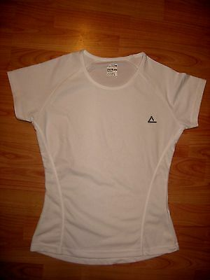 Ladies White Running Sports Top - Size