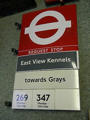 London Transport Buses Bus Stop Sign Large Superb Condition