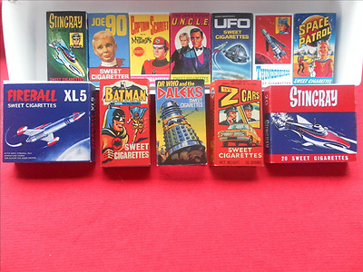 VINTAGE SWEET CIGARETTE BOX COLLECTION ALL YOUR FAVOURITES FROM THE 1960s !