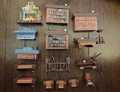 Vtg 1990 HeroQuest Board Game Replacement Parts Complete Lot of Furniture Pieces