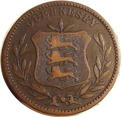 U K  Great Britain  GUERNESEY 8 doubles  1885  H   about VERY FINE   (3240)