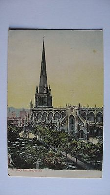 Old Postcard St. Mary Redcliffe, Bristol 1906
