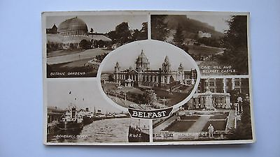 Old Postcard R 622 multi-view BELFAST 1952 Valentine's real photograph