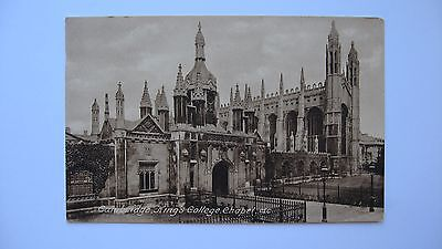 Old Vintage Postcard King's College, Chapel etc Cambridge Frith real photograph