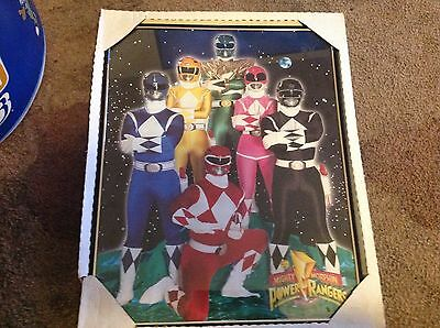 "Vintage Mighty Morphin Power Rangers Framed Poster From 1994! 16"" x 20"""