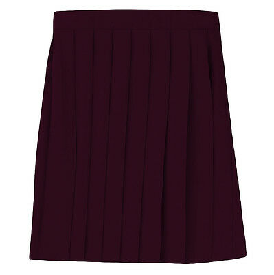 758fd2a022 GIRLS BURGUNDY PLEATED Skirt French Toast School Uniform Sizes 5 to ...