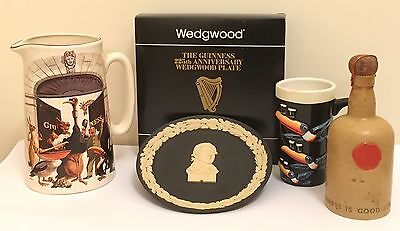 Guinness Vintage Colletable Water Jug Carltonware Bottle Toucan Mug Ltd Ed Plate