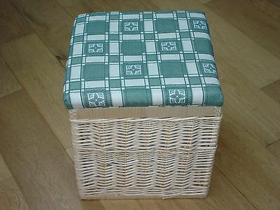 Wicker Laundry Basket and Seat combined
